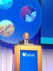 Former Secretary Steven Chu Delivering His Plenary Address
