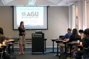 AGU staff lead a workshop on how to communicate with policymakers